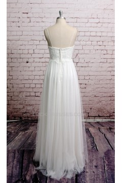 Sheath/Column Spaghetti Strap Bridal Wedding Dresses WD010671