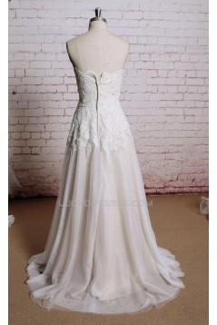 A-line Sweetheart Lace Bridal Wedding Dresses WD010675