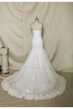 Trumpet/Mermaid Sweetheart Lace Bridal Wedding Dresses WD010679