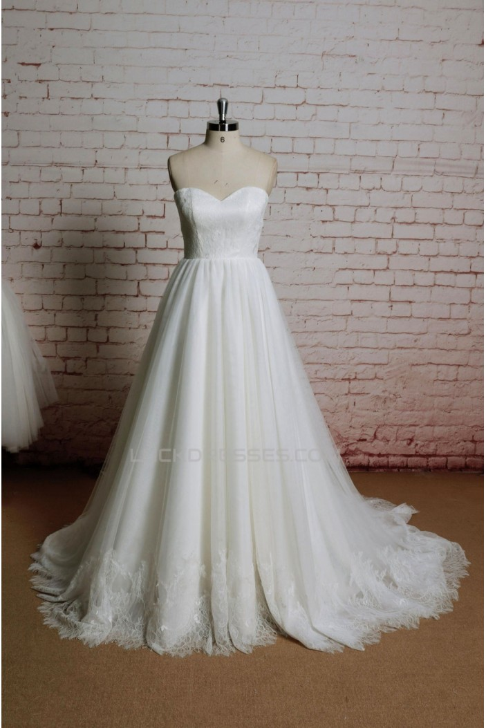 A-line Sweetheart Lace Bridal Wedding Dresses WD010680