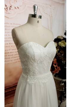 A-line Sweetheart Lace and Tulle Bridal Wedding Dresses WD010682