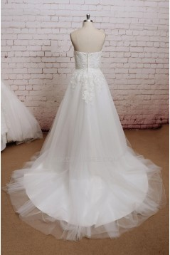 A-line Sweetheart Tulle and Lace Bridal Wedding Dresses WD010685