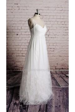 A-line V-neck Bridal Wedding Dresses WD010686