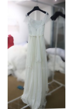A-line Lace and Chiffon Bridal Wedding Dresses WD010691