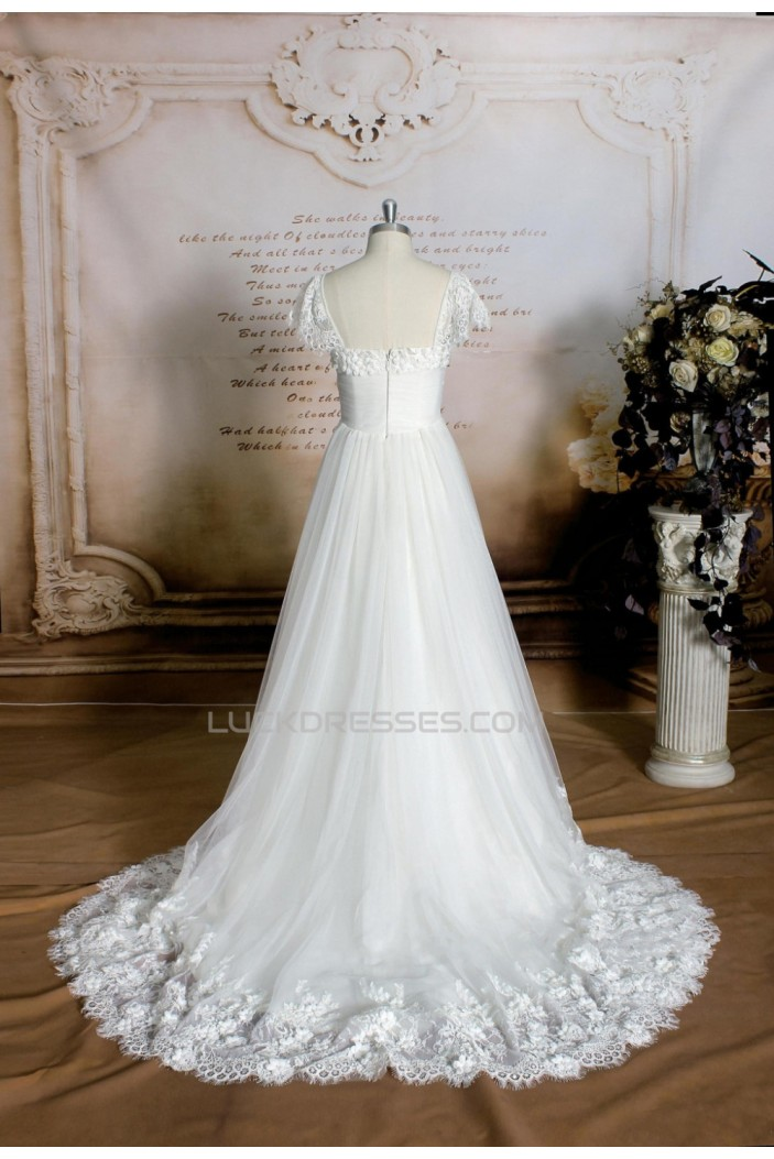 A-line Lace Bridal Wedding Dresses WD010695