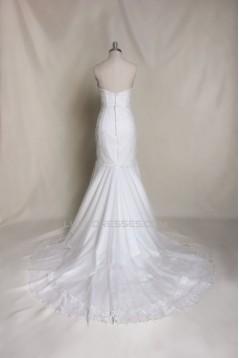 Trumpet/Mermaid Sweetheart Lace Bridal Wedding Dresses WD010697