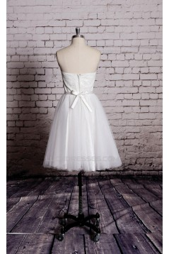 Ball Gown Sweetheart Short Lace and Tulle Bridal Gown Wedding Dress WD010701