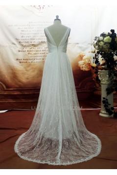 A-line Straps Lace Bridal Gown Wedding Dress WD010703