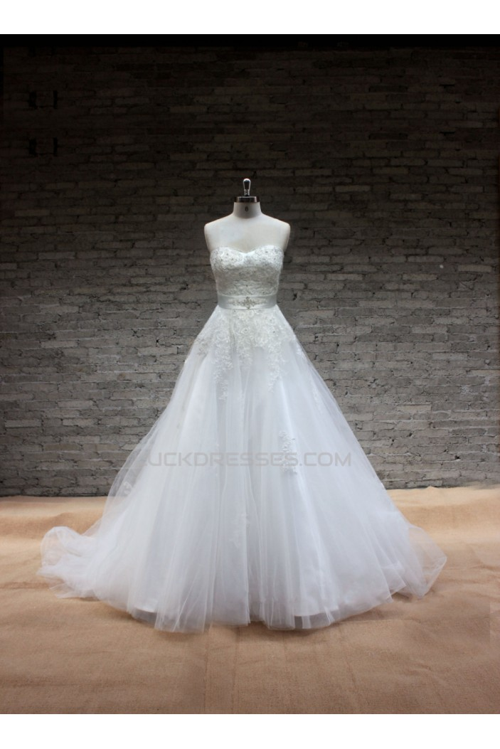 A-line Sweetheart Lace Bridal Gown Wedding Dress WD010706