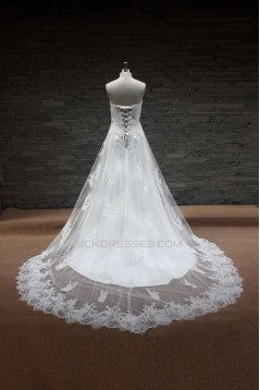 A-line Sweetheart Lace Bridal Gown Wedding Dress WD010711