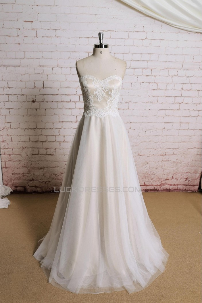 A-line Sweetheart Lace Bridal Gown Wedding Dress WD010713