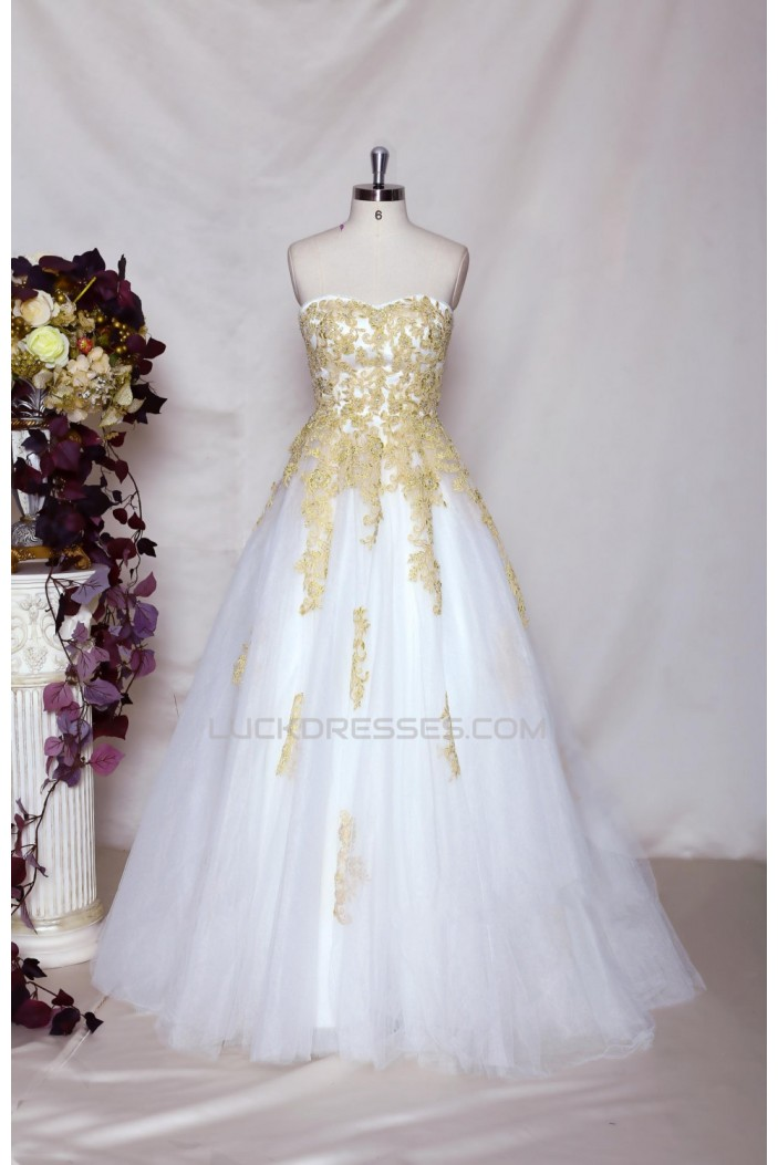 A-line Sweetheart Lace Bridal Gown Wedding Dress WD010714