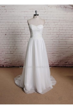 A-line Sweetheart Lace Bridal Gown Wedding Dress WD010715