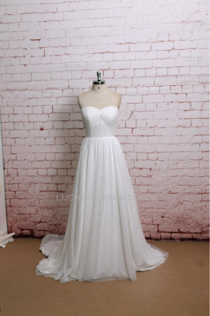 A-line Sweetheart Bridal Gown Wedding Dress WD010725