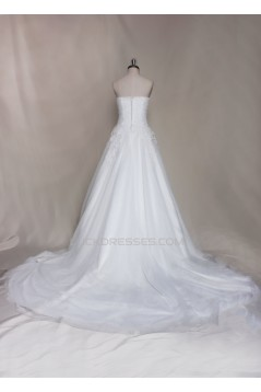 A-line Strapless Lace Bridal Gown Wedding Dress WD010726