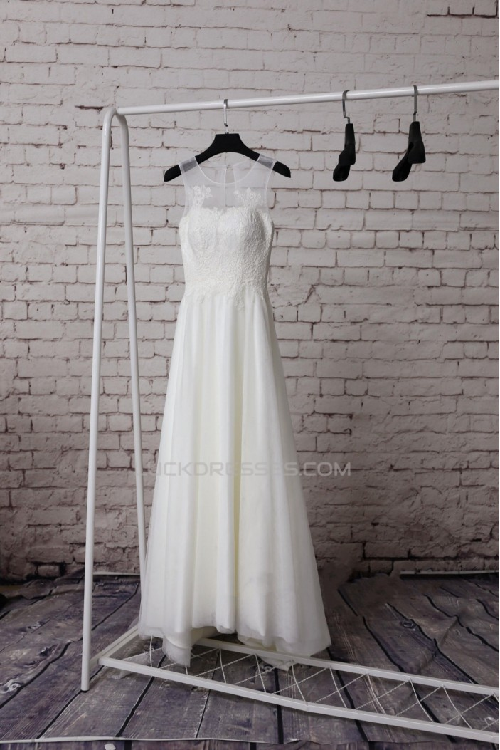 A-line Lace Bridal Gown Wedding Dress WD010727