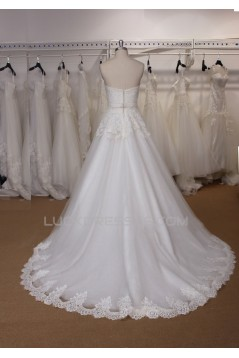 A-line Strapless Lace Bridal Gown Wedding Dress WD010729