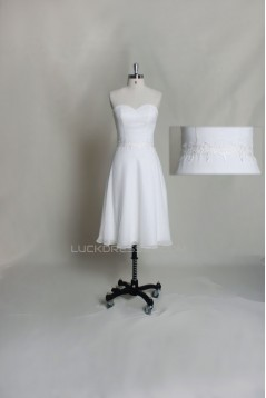 A-line Sweetheart Short Bridal Gown Wedding Dress WD010730