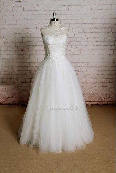 Ball Gown Lace Bridal Gown Wedding Dress WD010732