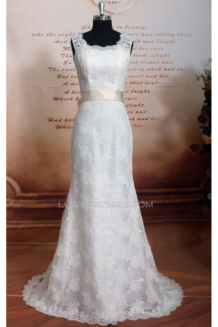 Trumpet/Mermaid Straps Lace Bridal Gown Wedding Dress WD010733