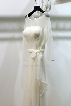 A-line Long Sleeves Bridal Gown Wedding Dress WD010739