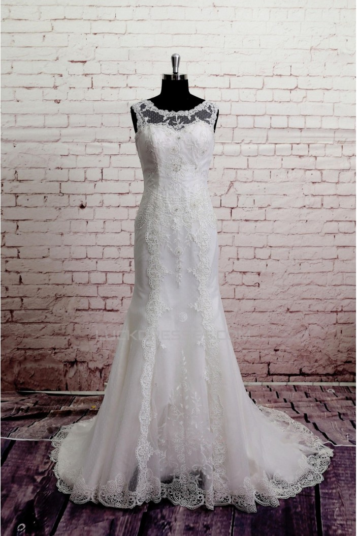 Trumpet/Mermaid Lace Bridal Gown Wedding Dress WD010743