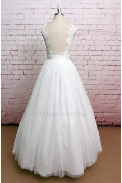 Ball Gown V-neck Lace Straps Bridal Gown Wedding Dress WD010747