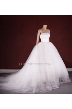 Ball Gown Strapless Bridal Gown Wedding Dress WD010754