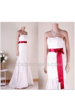 Trumpet/Mermaid Strapless Bridal Gown Wedding Dress WD010762