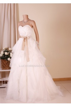 Ball Gown Sweetheart Bowknot Bridal Gown Wedding Dress WD010763