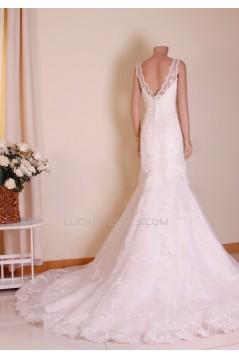 Trumpet/Mermaid V-neck Lace Bridal Gown Wedding Dress WD010764