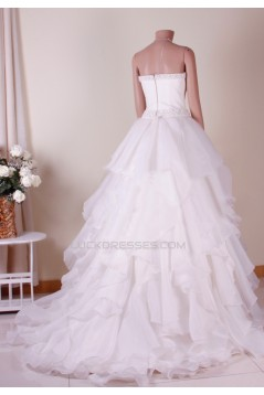 Ball Gown Strapless Beaded Bridal Gown Wedding Dress WD010766