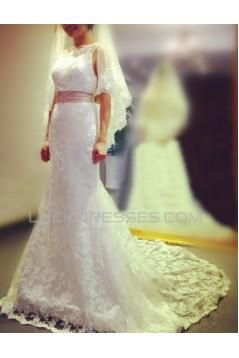 Trumpet/Mermaid Lace Bridal Gown Wedding Dress WD010774