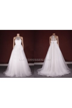 A-line Beaded Bridal Gown Wedding Dress WD010776
