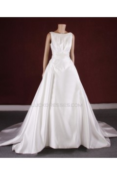 A-line Beaded Bridal Gown Wedding Dress WD010777