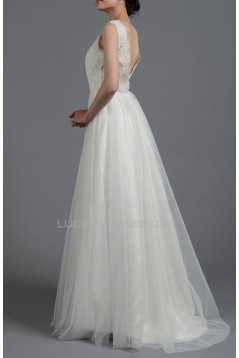 A-line Lace Bridal Gown Wedding Dress WD010787