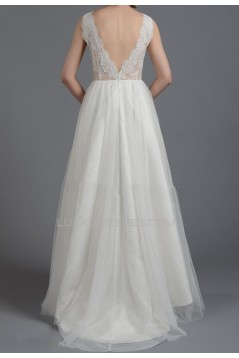 A-line Lace Bridal Gown Wedding Dress WD010787