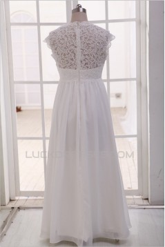 Empire Lace and Chiffon Maternity Bridal Gown Wedding Dress WD010789