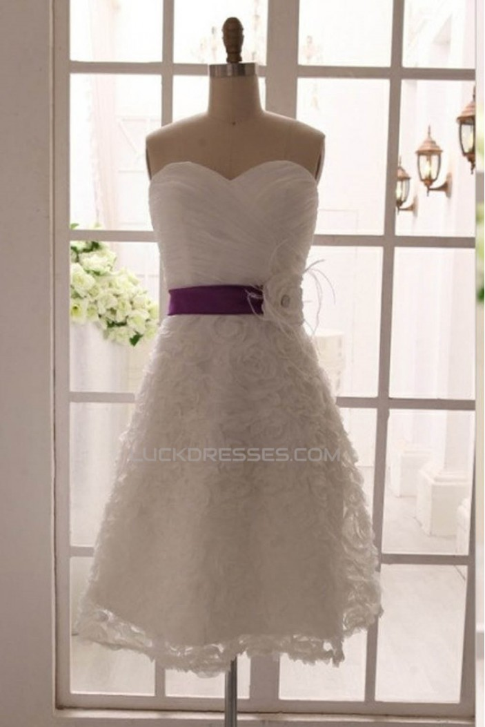A-line Sweetheart Short Bridal Gown Wedding Dress WD010791