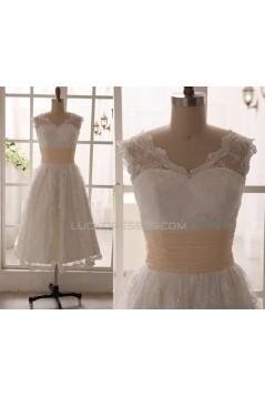 A-line Short Lace Bridal Gown Wedding Dress WD010792