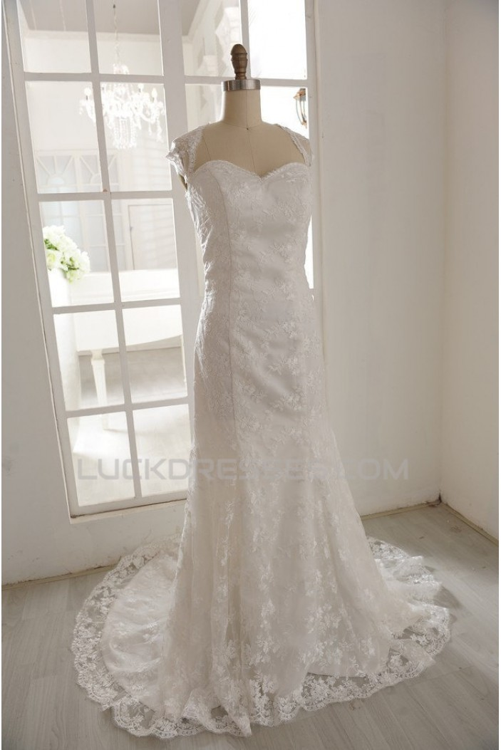 Trumpet/Mermaid Sweetheart Lace Bridal Gown Wedding Dress WD010795