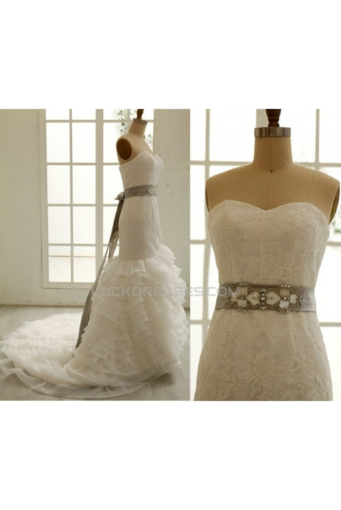 Trumpet/Mermaid Sweetheart Lace Bridal Gown Wedding Dress WD010798