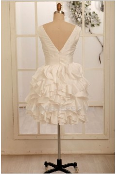 Ball Gown V-neck Short Bridal Gown Wedding Dress WD010800