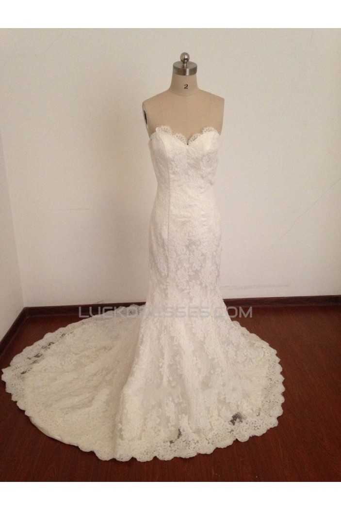 Trumpet/Mermaid Sweetheart Lace Bridal Wedding Dresses WD010811