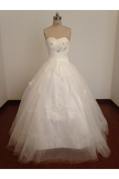 Ball Gown Sweetheart Beaded Appliques Bridal Wedding Dresses WD010812
