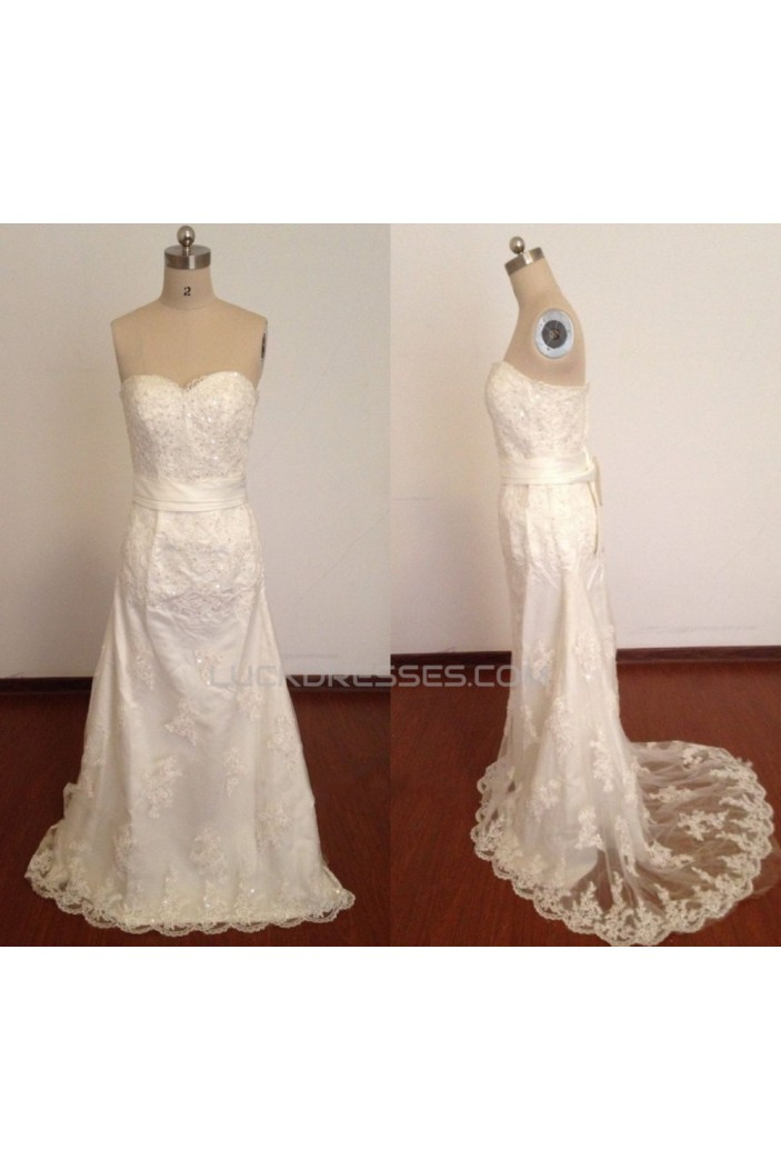 Elegant Sweetheart Beaded Appliques Bridal Wedding Dresses WD010818