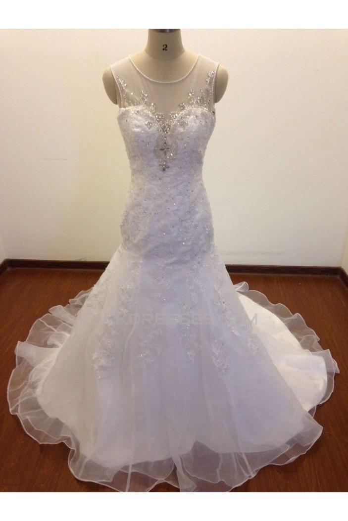 Trumpet/Mermaid Beaded Appliques Bridal Wedding Dresses WD010824