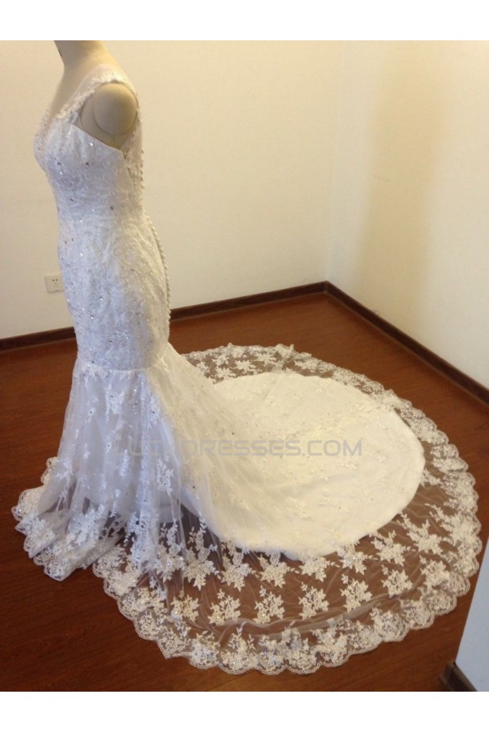 Trumpet/Mermaid Beaded Appliques Bridal Wedding Dresses WD010825
