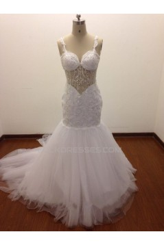 Trumpet/Mermaid Beaded Bridal Wedding Dresses WD010827