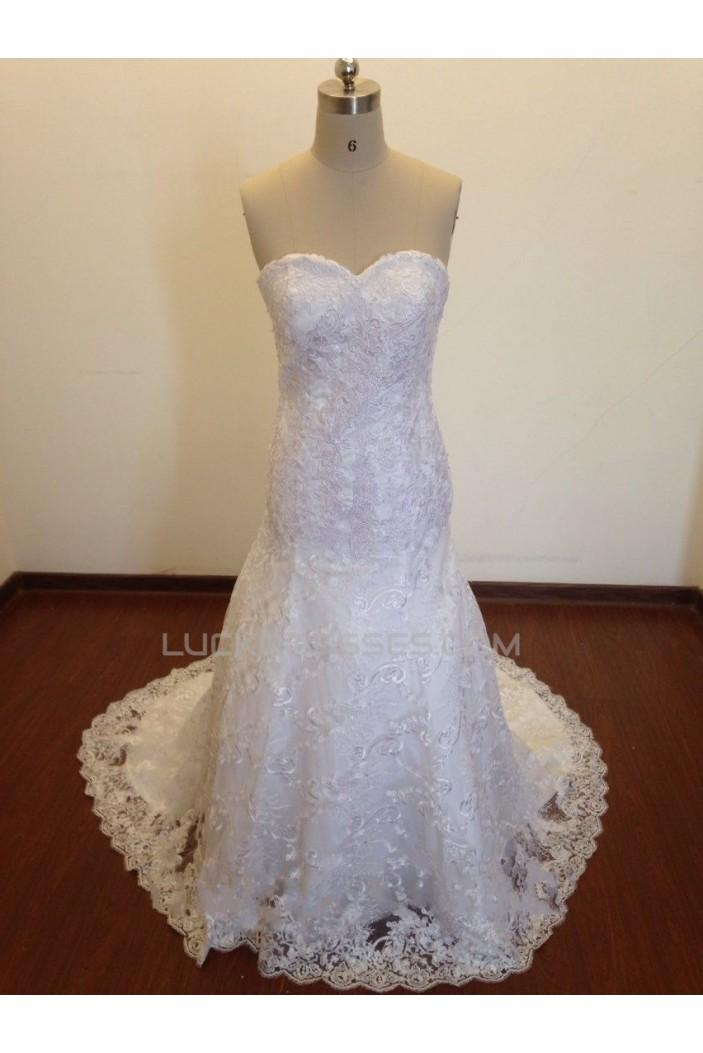 Trumpet/Mermaid Sweetheart Lace Bridal Wedding Dresses WD010828